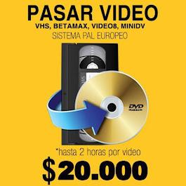Copiado de DVD, VHS, BETAMAX CALI