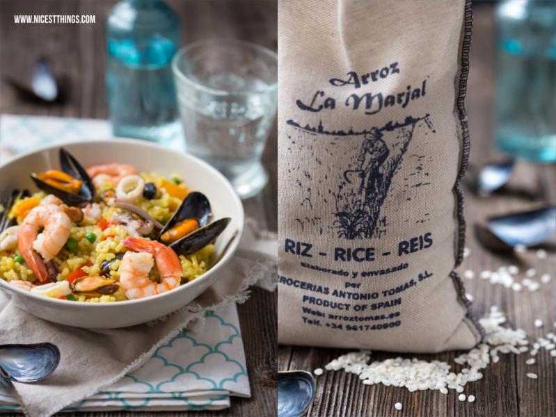 Paella Rezept mit original Paella Reis und Meeresfrüchten