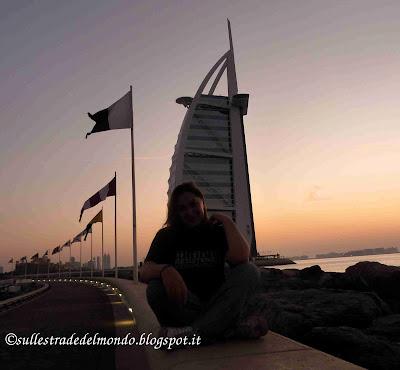 Burj el Arab al tramonto