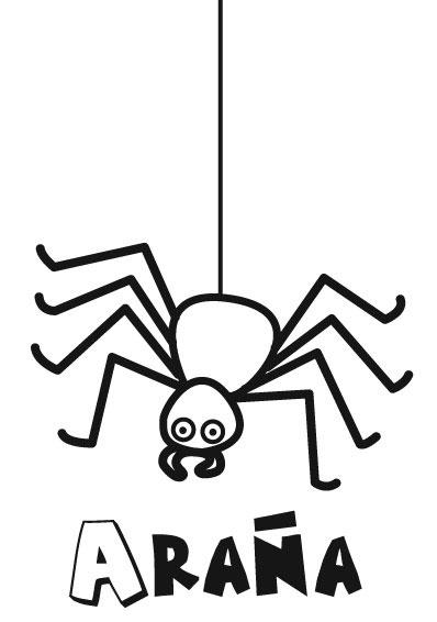 Araña para colorear y pintar ~ Colorea el dibujos