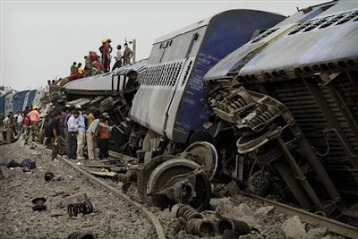 Brahmaputra Mail accident with Jharkhand goods train