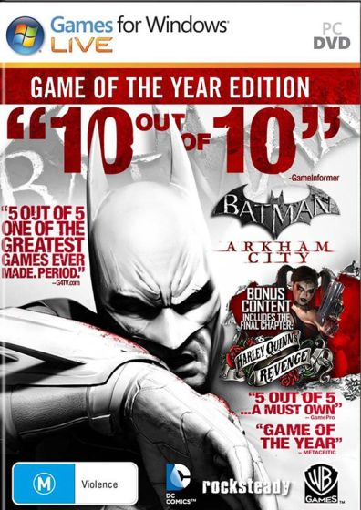 batman arkham city game of the year edition pc game free