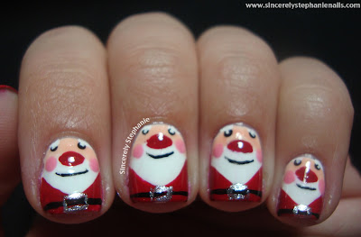 Christmas nails ideas, beautyfoodlife.blogspot.com