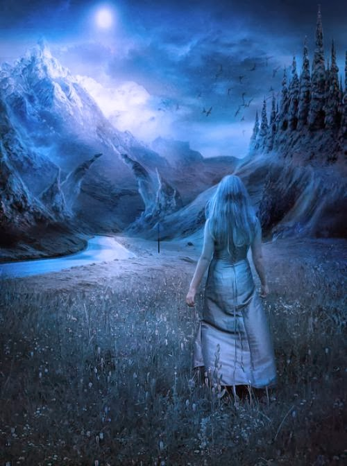 Elena Dudina deviantart art photomanipulation photoshop fantasy surreal dark women beautiful The forbidden valley