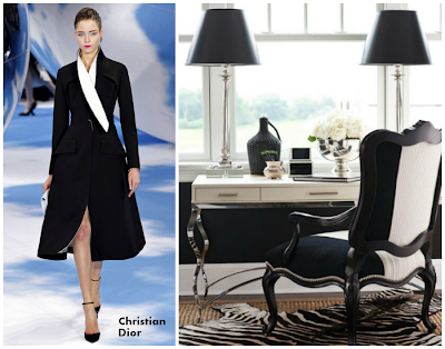 Dior brought into elegant black and white workspace