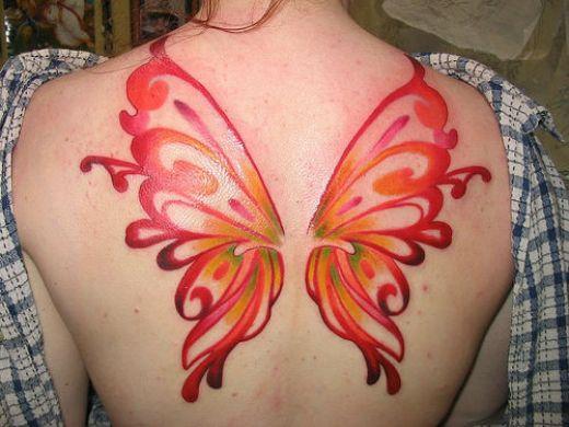Butterfly Wings Back Tattoo