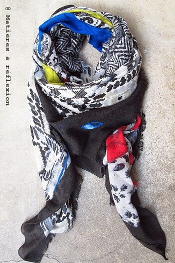 Foulard en laine et soie Mii Accessoires