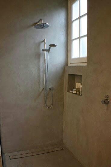 Plato de ducha en microcemento perla