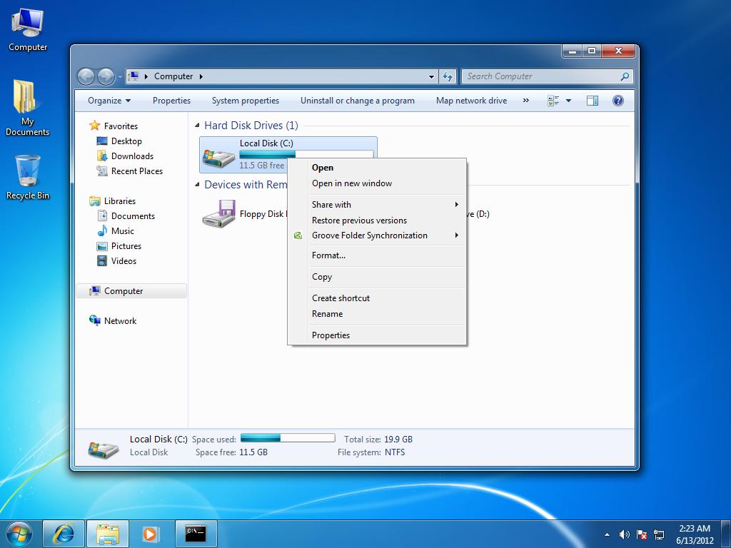 windows 7 lesson perform hard disk scan windows 7