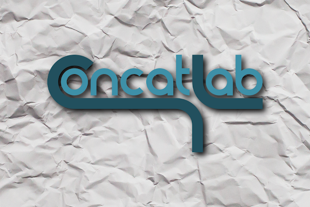 concatlab logo with crumpled paper background