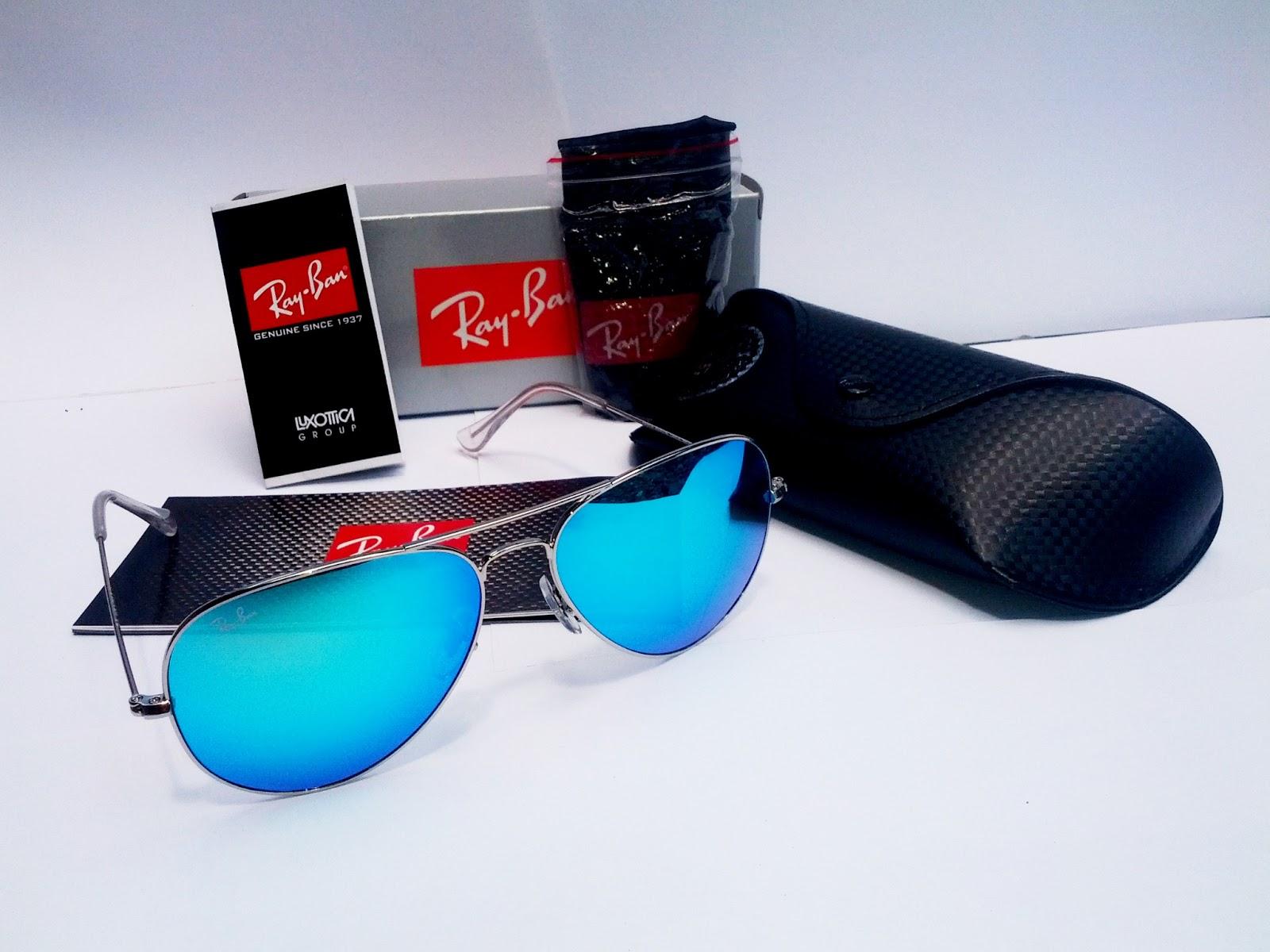 e955707a2db Ray Ban Aviators Blue Lens Silver Frame « Heritage Malta