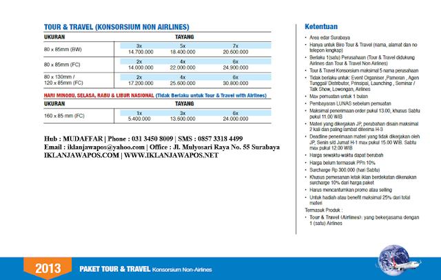 Jawa Pos Iklan Paket Tour And Travel 2013