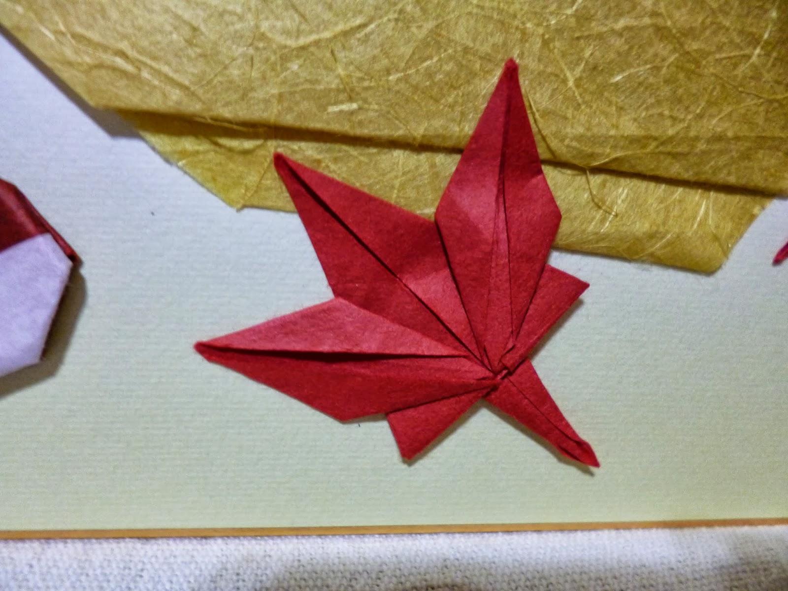 こちらは、和紙で作ったもみじ ... : もみじ 折り紙 : すべての折り紙