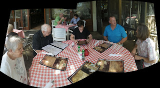 It was a big table and I had to stitch together two photos to get everyone in the one picture.