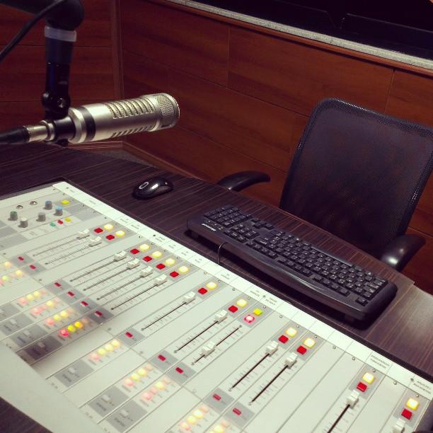 Estúdios da rádio Mix FM de Goiânia