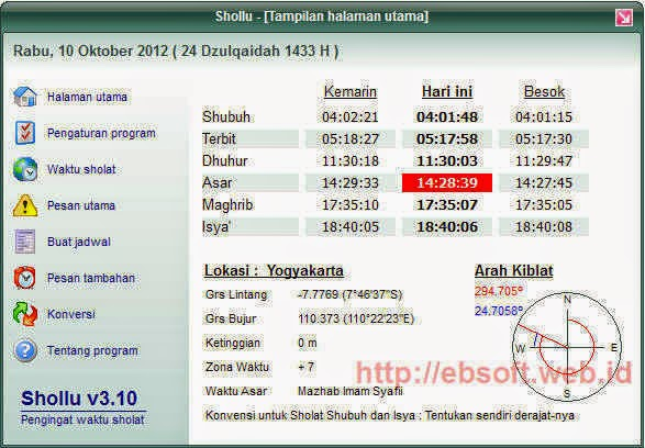 Download Shollu 3.10 Terbaru Software Pengingat Sholat