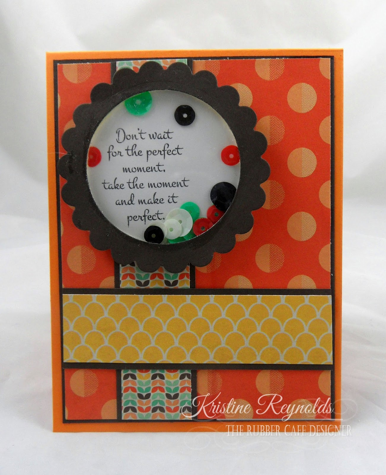 the rubber cafe design team blog: make it perfect shaker card