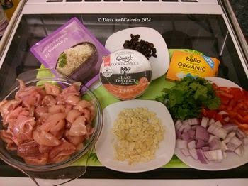 Ingredients quark tikka chicken