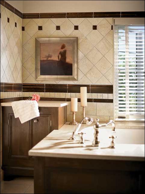 Old world bathroom design ideas room design ideas for Cream and black bathroom ideas