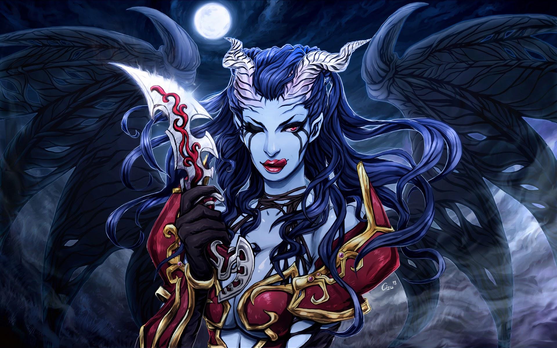 akasha queen of pain dota 2 hd wallpaper hero girl 1920x1200    Queen Of Pain Dota