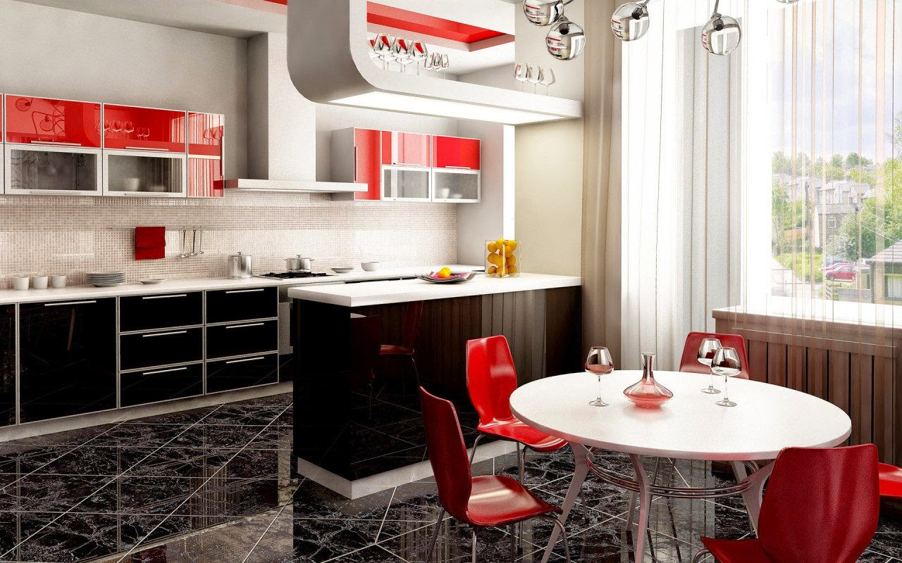 Design Interior Multifunction Kitchen and Dining Room
