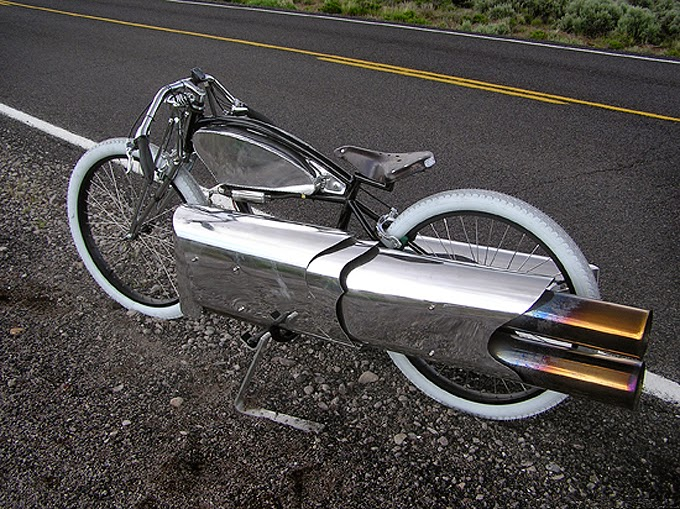 Electra bicycle + pulse jet engine