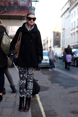 Moda, ropa de invierno en Londres