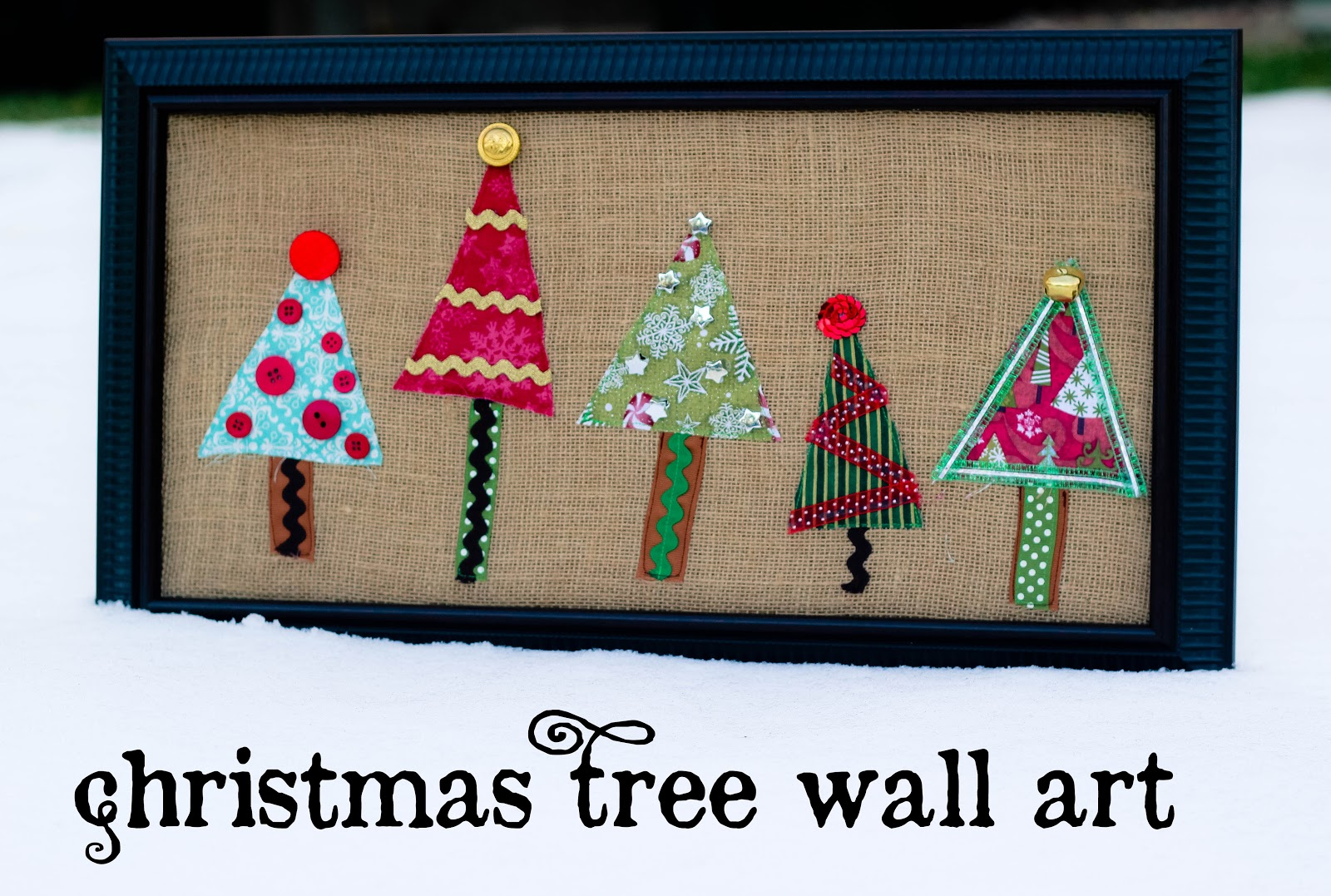 Christmas tree wall art swell noel positively