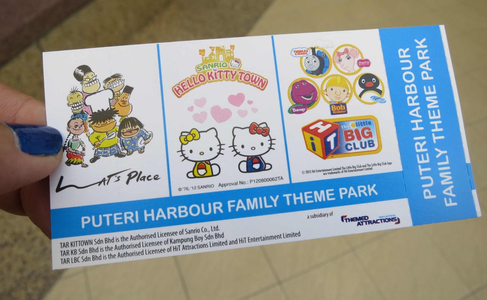 Hello kitty town puteri harbour family theme park johor bahru malaysia - My Ticket To The Attractions At Puteri Harbour Family Theme Park In Nusajaya