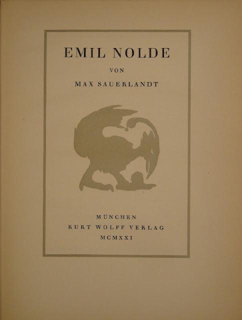 German artists writings in the xx century emil nolde mein leben fig 40 max sauerlandt emil nolde munich kurt wolff publishers 1921 fandeluxe Gallery