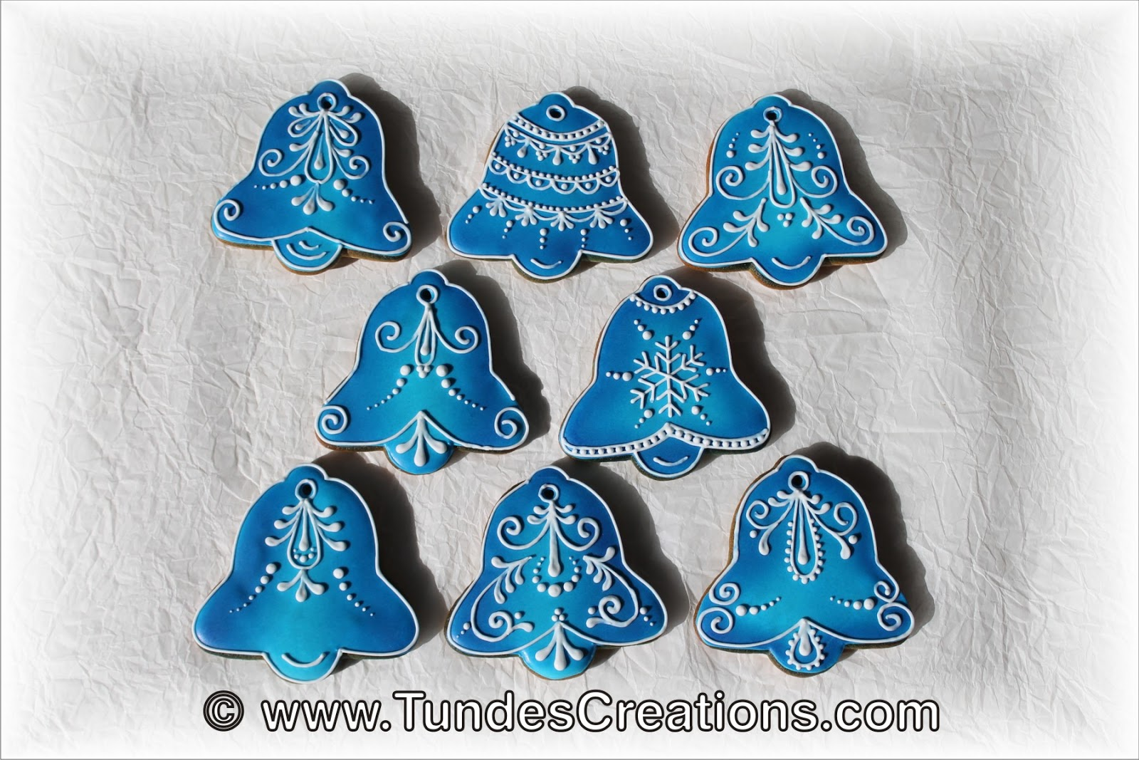 The Gingerbread Artist Blue Christmas Ornaments And
