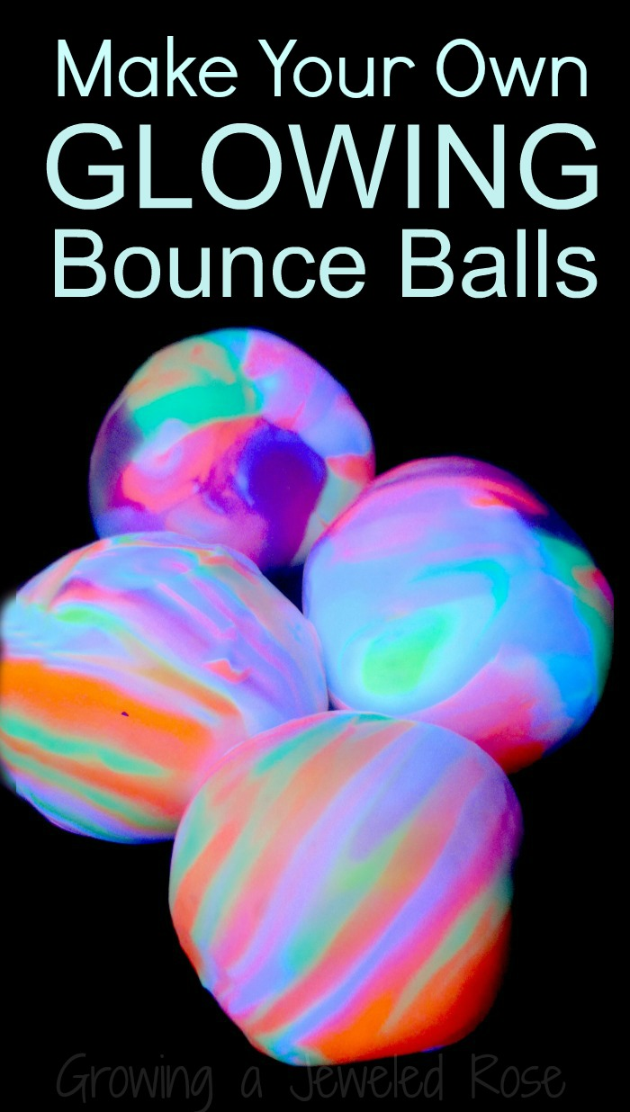homemade bouncy balls that glow growing a jeweled rose