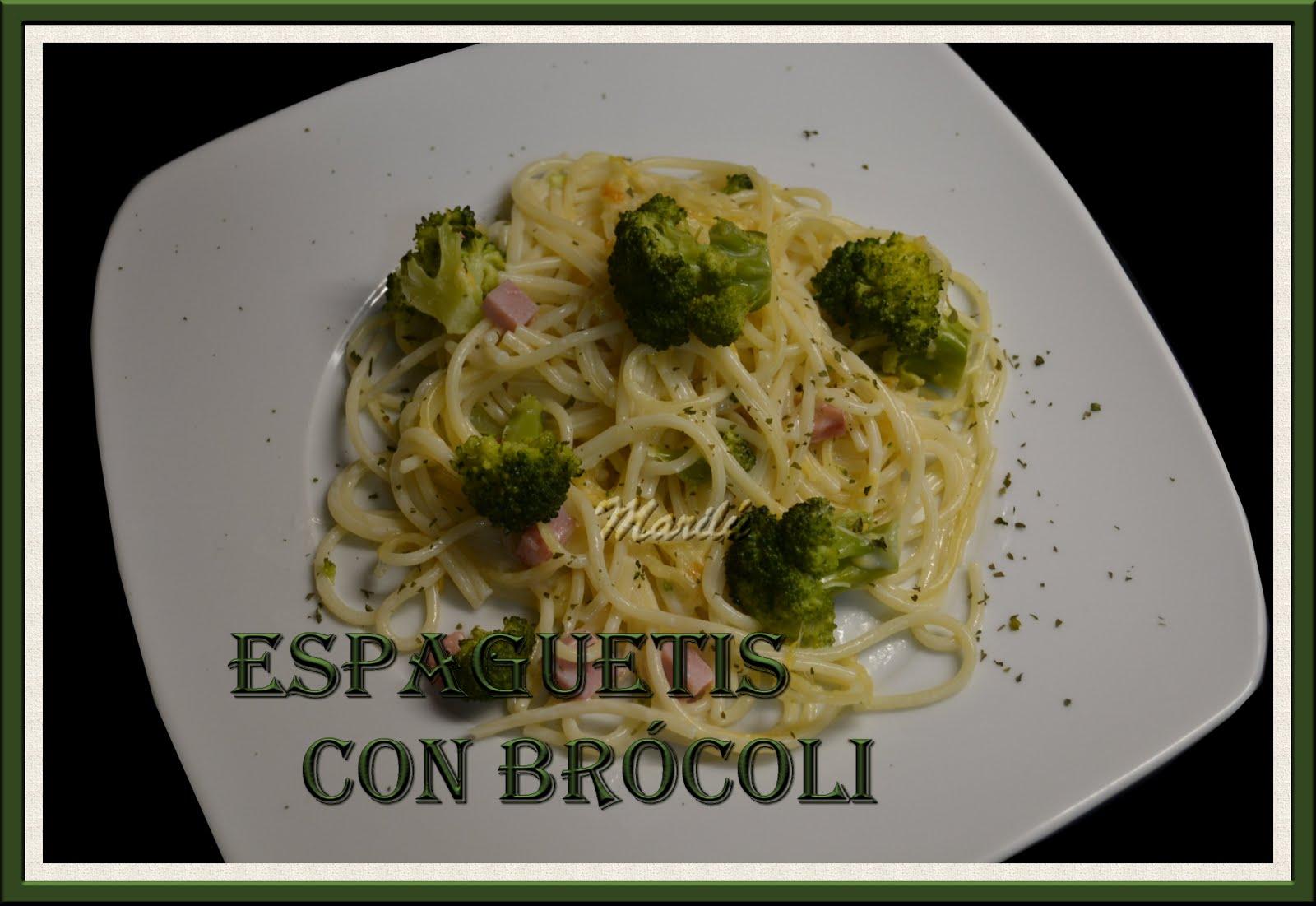 Maril entre pucheros espaguetis con br coli for Espaguetis para dos