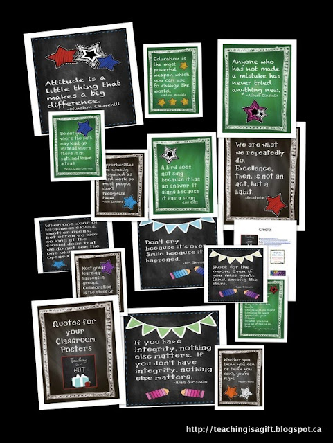 Photo of Proud Canadian Teacher Blog Award Freebie Posters PDF Printable