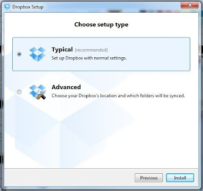 dropbox typical installation