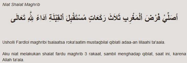 Bacaan Niat Sholat Wajib Lengkap.