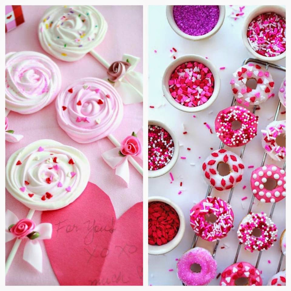 meringue lollipops and mini baked dounuts
