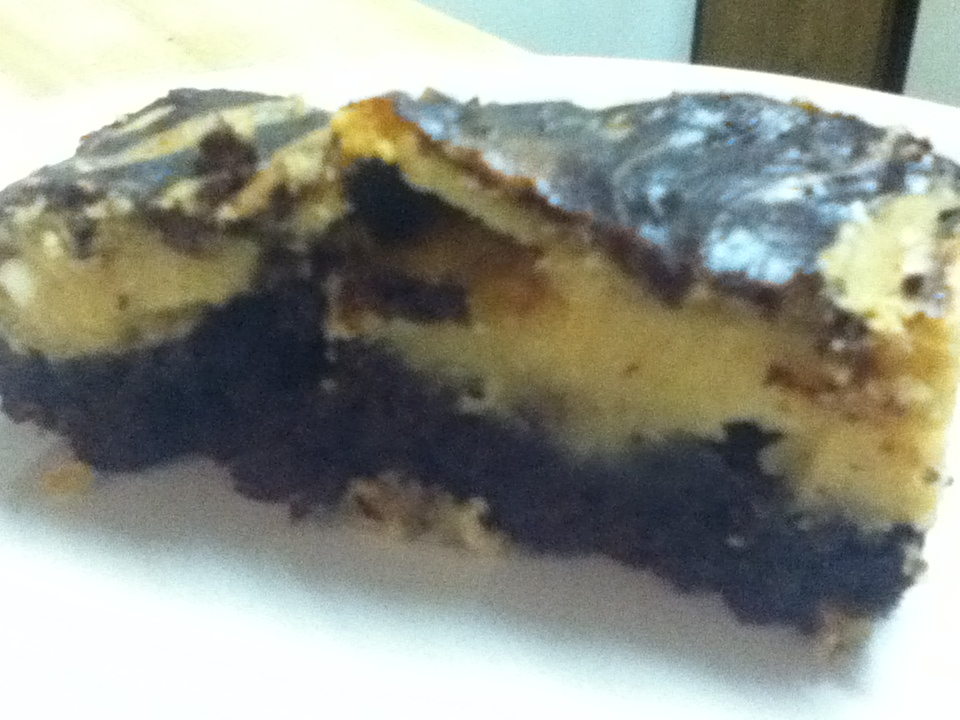 Peanut Butter Brownies - side view