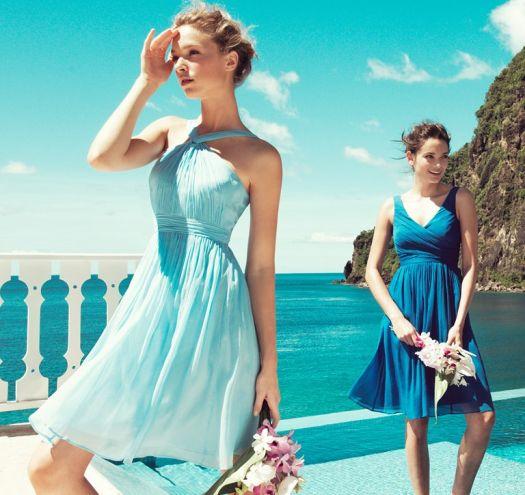 Vestidos De Baño Verano Azul: EL AZUL TURQUESA ES LO MAS AGRADABLE PARA USARSE EN VESTIDOS