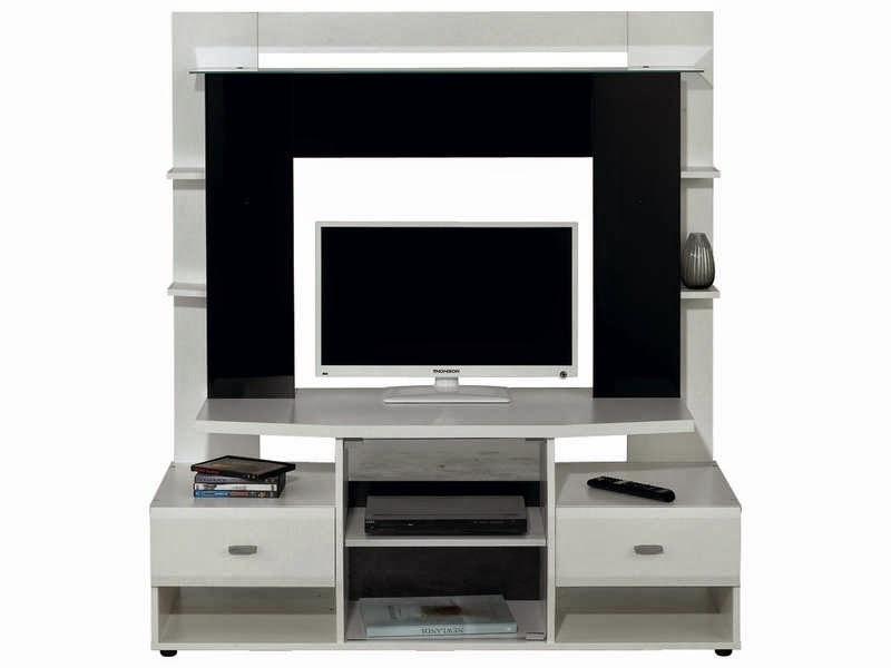Meuble tv noir conforama meuble tv for Meuble tele noir et blanc