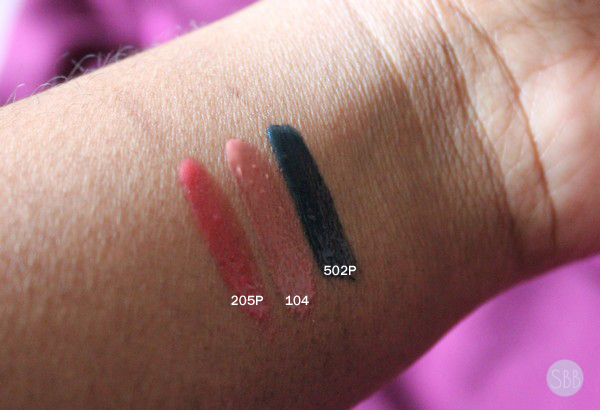 picture of mufe lip gloss swatches
