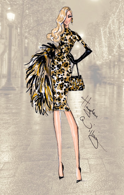 Hayden Williams Fashion Illustration - On the Prowl - PFW