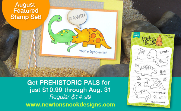 Prehistoric Pals Stamp Set | Newton's Nook Designs