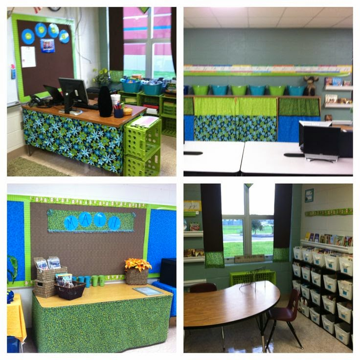 Green classroom decor