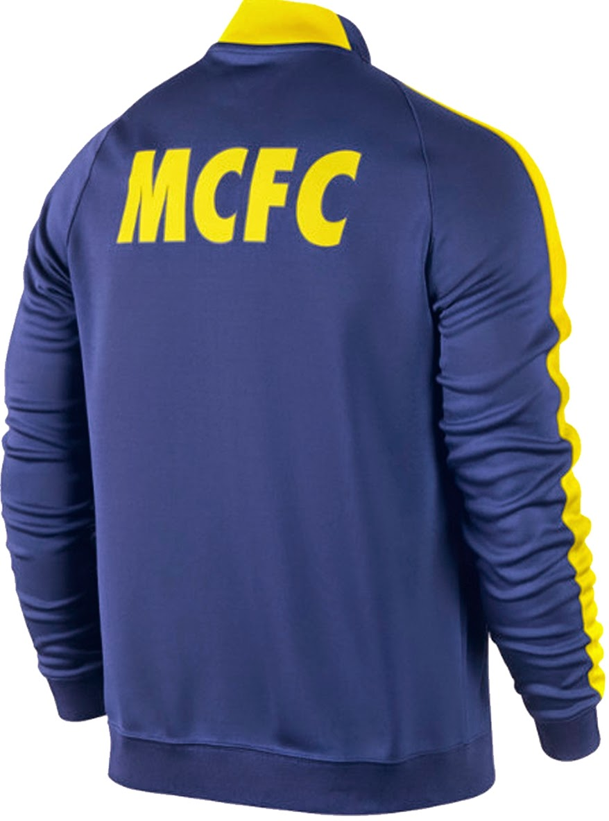 Jaket GO Nike N98 Manchester City Away Blue Yellow 14 15