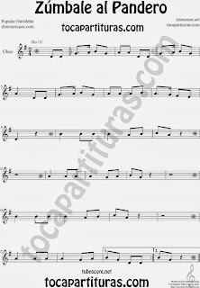 Partitura de Zúmbale al Pandero para Oboe by Sheet Music for Oboe Music Scores