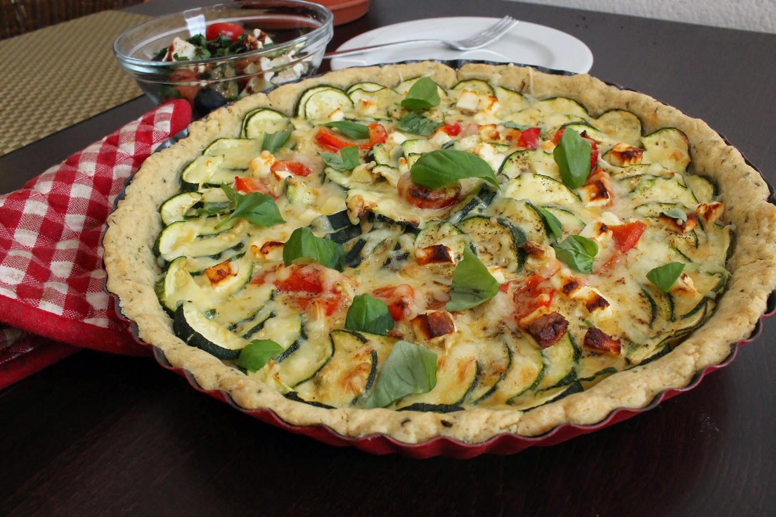 Zucchini paprika kuchen