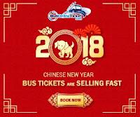 Tiket Bas Untuk 2018