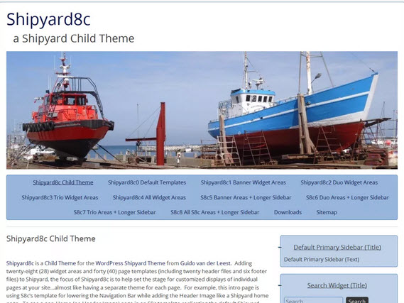 Shipyard8c Wordpress theme
