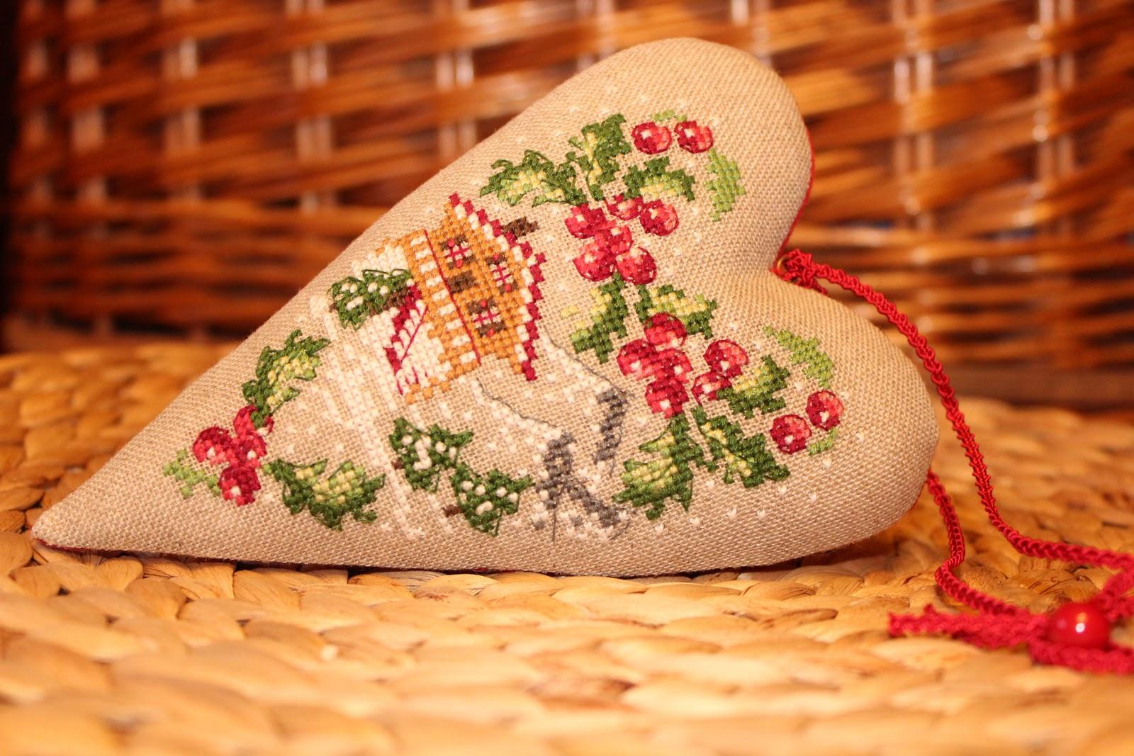 схема сердечко с птичками вышивка